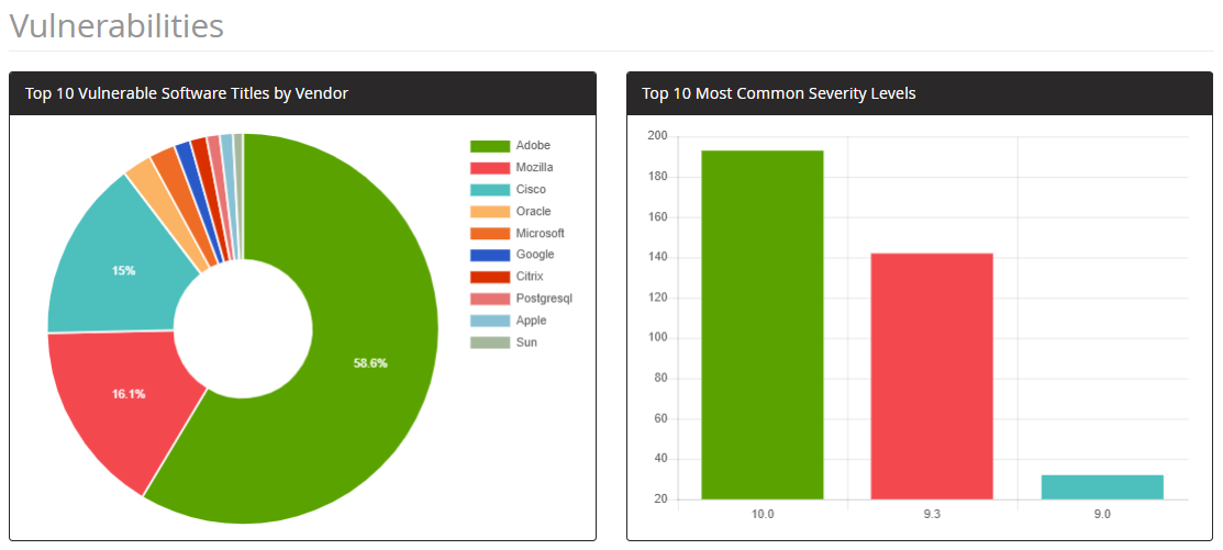 Software Vulnerabilities - Overview - Screenshot